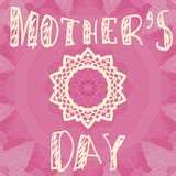 Handlettering Background With Hand Drawn Lace For Mother s Day. Stock Photography
