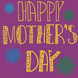 Handlettering Background With Hand Drawn Lace For Mother s Day in violet color. Stock Images