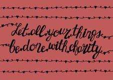 Handlettering tutto che siete fatto con la carità Fotografia Stock Libera da Diritti