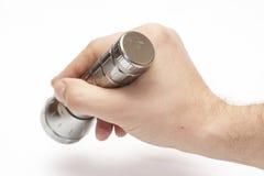 Handliche LED-Fackel in der Hand Lizenzfreie Stockfotografie