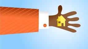 Handliches Haus Stockfoto