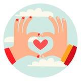 Liebe ist in der Luft! Lizenzfreie Stockfotos