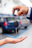 Handling car keys Royalty Free Stock Images