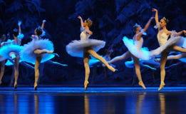 Handling för snöälvor- först av det fjärde fältsnölandet - balettnötknäpparen royaltyfria foton