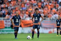 Handling i thailändsk premier league Royaltyfria Foton