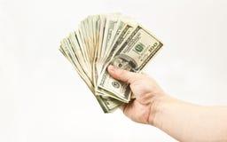 Handling Money Stock Image