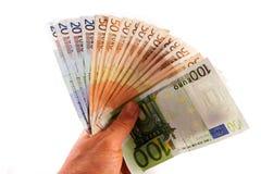Handling money Royalty Free Stock Image