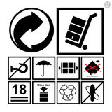 Handling & packing icon set Stock Image