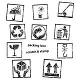 Handling & packing icon set Stock Photography