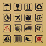 Handling and packing icons Royalty Free Stock Photography