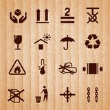 Handling and packing symbols Stock Photography