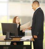 Handling Report To Business Team Royalty Free Stock Photography