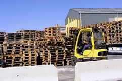 Handling and storage of pallets Stock Images