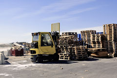 Handling and storage of pallets Royalty Free Stock Image