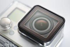 Handlingkamera i vattentätt fall fotografering för bildbyråer