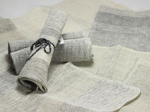 Handloom cotton napkins Royalty Free Stock Photography