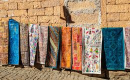 Handloom traditional and colorful clothes hanging Golden Fort of Royalty Free Stock Photo