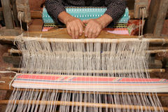 Handloom weaving Royalty Free Stock Photo