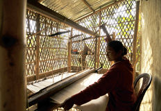 Handloom worker Stock Photos