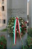 Handlovar Modena, Italien, monument till koncentrationslägerna av judiska förvisade personer Arkivbilder