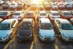Handlowów pojazdy w zapasie Obraz Stock