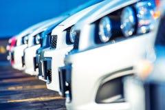 Handlowów samochody Dla sprzedaży obraz stock