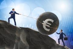 Handlowa handel w euro walucie zdjęcia royalty free