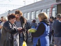 Handlowa sprzedawanie w staci kolejowej, federacja rosyjska Obraz Royalty Free