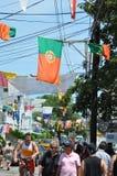 Handlowa ulica w Provincetown, Cape Cod w Massachusetts Zdjęcia Royalty Free
