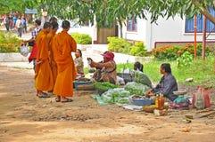 Handlować w Tajlandzkim - Laos granica Fotografia Stock