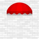 Handlowe baldachim markizy serie Wektor ściana Czerwony kopuły markizy szablon Gotowy szablon dla plakata, sztandar, Reklamuje royalty ilustracja