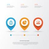 Handlowe ikony Ustawiać Kolekcja diagram Obraz Royalty Free