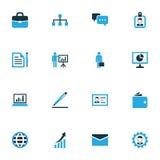 Handlowe Kolorowe ikony Ustawiać Kolekcja uwierzytelnienie, kontrakt, odznaka I Inni elementy, Także Zawiera symbole Taki Obraz Stock