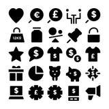 Handlowe Wektorowe ikony 5 Zdjęcie Royalty Free