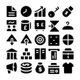 Handlowe Wektorowe ikony 4 Zdjęcie Stock