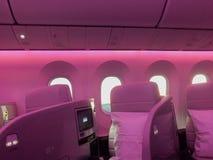 Handlowego samolotu klasy business wnętrze Zdjęcia Royalty Free