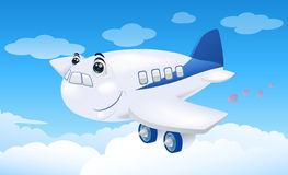 handlowego samolotu latanie Obrazy Stock