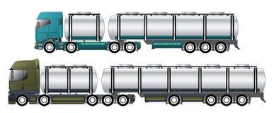 Handlowi tankowowie z dromaderów ciągnikami ilustracja wektor