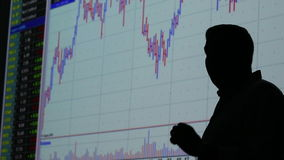 Handlowiec i rynek finansowy wymiana - wykres zdjęcie wideo