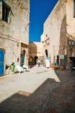 Handlowowie na ulicach Essaouira w Maroko na Wrześniu 20 Obraz Stock