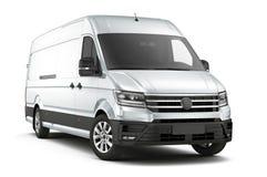 Handlowy ładunku samochód dostawczy odizolowywający na bielu Obraz Royalty Free