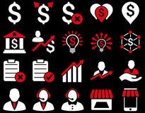 Handlowy biznesu i banka usługa ikony set Zdjęcie Stock