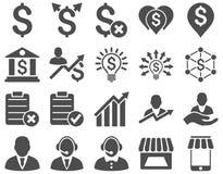 Handlowy biznesu i banka usługa ikony set Obraz Stock