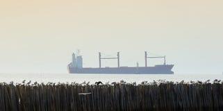 Handlowy zbiornika statek na morzu Logistyka importa eksporta pojęcie Zdjęcia Royalty Free