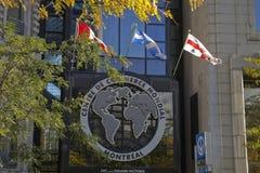 Handlu Światowego Centre w Montreal, Quebec Obrazy Royalty Free
