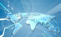 Handlu Światowego Globalisation mapy tło royalty ilustracja