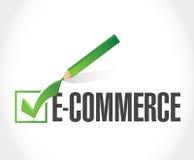 handlu elektronicznego czek zatwierdzenie ilustracja Zdjęcia Stock