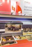 Handlu Międzynarodowego jarmarku reklama Zdjęcia Stock