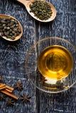 handluje porcelany świeżego porcelanowe truskawek herbatę razem Fotografia Royalty Free