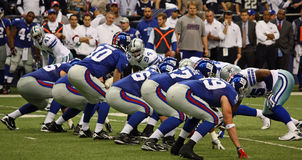 Handlung der Cowboy-Verteidigung-NY Giants Lizenzfreies Stockfoto